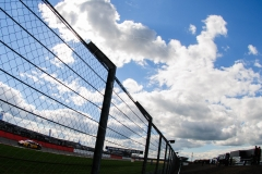 Blue sky and barriers